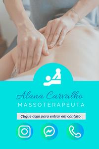 Cartão de Visita Digital Interativo 360tools CVODITKAT2 Alana Carvalho Massoterepia Massagista Massoterapeuta Fisioterapiia Fisioterapeuta