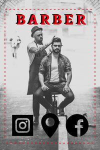 Cartão de Visita Digital Interativo 360tools CVODITKAT2 Barber Barbearia Cabelo e Barba