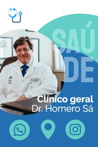 Cartão de Visita Digital Interativo 360tools CVODITKAT2 Dr Homera Sá Saúde Médico Clínico Geral