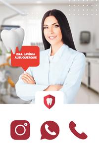 Cartão de Visita Digital Interativo 360tools CVODITKAT2 Dra Lavinia Albuquerque Dentista Otontologia Otontologista