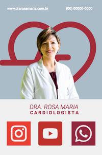 Cartão de Visita Digital Interativo 360tools CVODITKAT2 Dra Rosa Maria Cardiologista