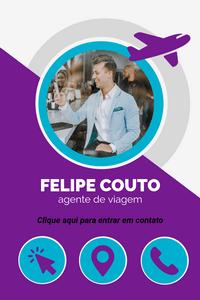 Cartão de Visita Digital Interativo 360tools CVODITKAT2 Felipe Couto Agente de Viagens