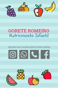 Cartão de Visita Digital Interativo 360tools CVODITKAT2 Gorete Romeiro Nutricionista Infantil Nutrição