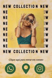 Cartão de Visita Digital Interativo 360tools CVODITKAT2 New Collection Fashion Moda Roupas