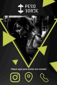 Cartão de Visita Digital Interativo 360tools CVODITKAT2 Peso Forte Academia Gym Personal Trainner
