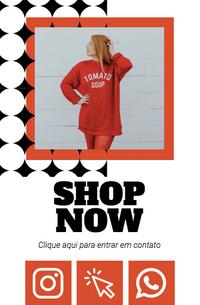 Cartão de Visita Digital Interativo 360tools CVODITKAT2 Shop Now Fashion Moda Roupas
