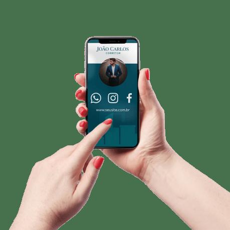 Cartão de Visita Digital e Interativo Mãos P Corretor