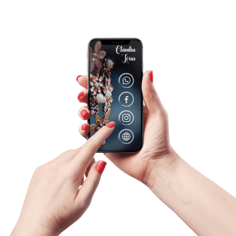 Cartão de Visita Digital e Interativo Mãos P Jóias