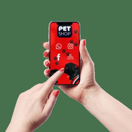 Cartão de Visita Digital e Interativo Mãos P Pet Shop
