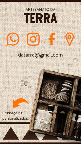 Cartão de Visitas Digital Interativo 360tools CVODITKAT Artesanato Rústico