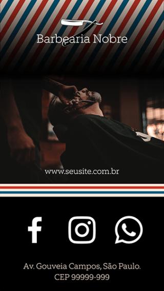 Cartão de Visitas Digital Interativo 360tools CVODITKAT Barbearia