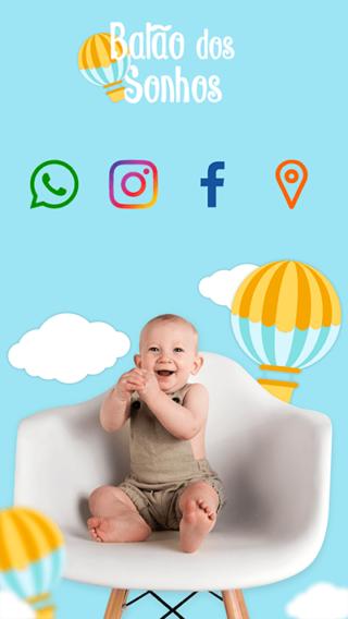 Cartão de Visitas Digital Interativo 360tools CVODITKAT Bebê