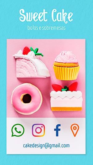 Cartão de Visitas Digital Interativo 360tools CVODITKAT Confeitaria