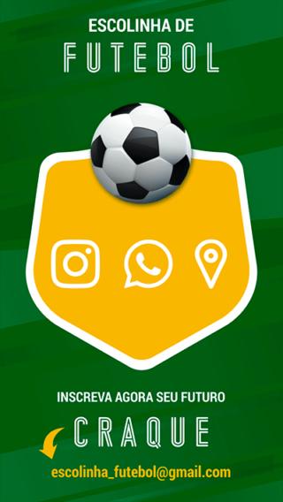 Cartão de Visitas Digital Interativo 360tools CVODITKAT Escolinha de Futebol