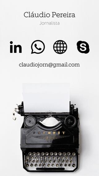 Cartão de Visitas Digital Interativo 360tools CVODITKAT Jornalista