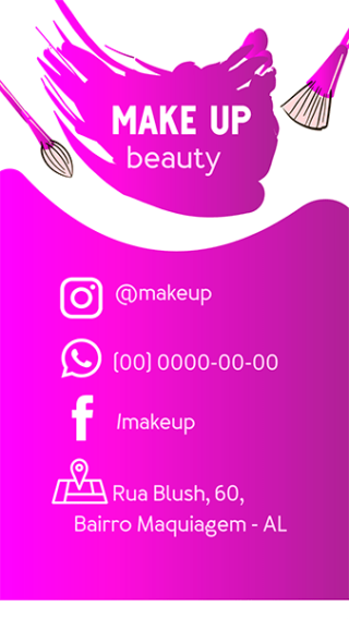 Cartão de Visitas Digital Interativo 360tools CVODITKAT Make up Beauty