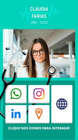 Cartão de Visitas Digital Interativo 360tools CVODITKAT Médicos