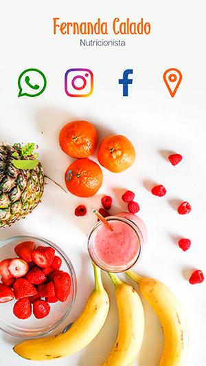 Cartão de Visitas Digital Interativo 360tools CVODITKAT Nutricionista