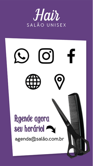 Cartão de Visitas Digital Interativo 360tools CVODITKAT Salão de Beleza