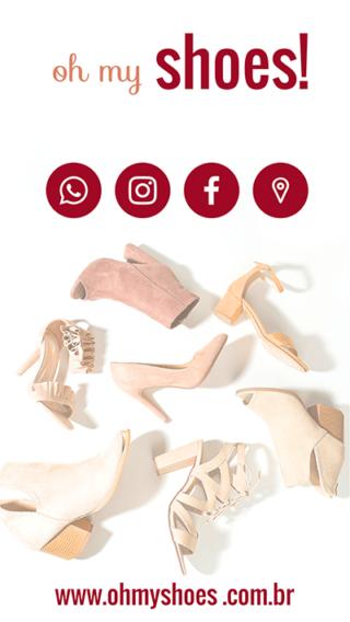 Cartão de Visitas Digital Interativo 360tools CVODITKAT Sapatos