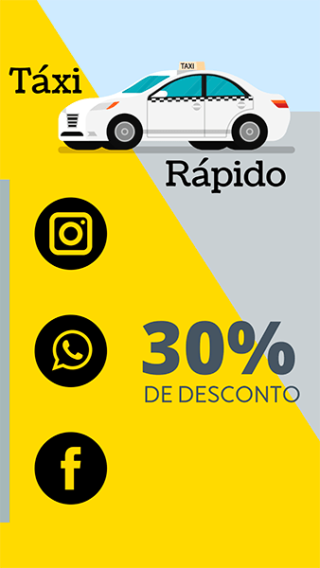Cartão de Visitas Digital Interativo 360tools CVODITKAT Taxi